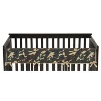 Sweet Jojo Designs Camo Long Crib Rail Cover in Green