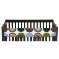 Sweet Jojo Designs Designer Dot Long Crib Rail Cover in Navy/Taupe