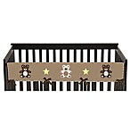 Sweet Jojo Designs Teddy Bear Long Crib Rail Cover in Chocolate