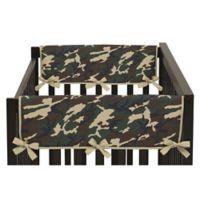 Sweet Jojo Designs Camo Side Crib Rail Covers in Green (Set of 2)