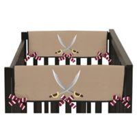 Sweet Jojo Designs Pirate Treasure Cove Side Crib Rail Covers (Set of 2)