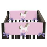 Sweet Jojo Designs Pretty Pony Side Crib Rail Covers (Set of 2)