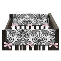 Sweet Jojo Designs Sophia Side Crib Rail Covers in Pink/White (Set of 2)