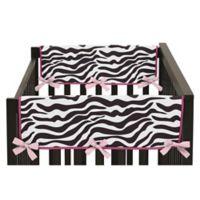 Sweet Jojo Designs Funky Zebra Side Crib Rail Covers in Pink (Set of 2)