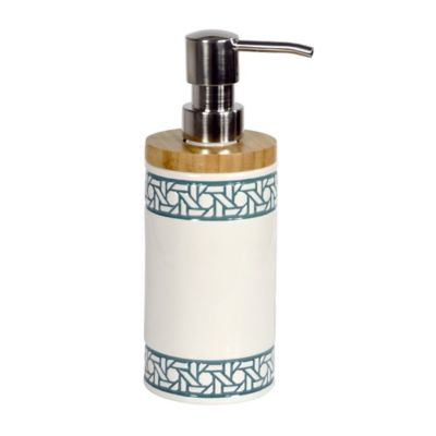 coastal palm shower lotion dispenser in green