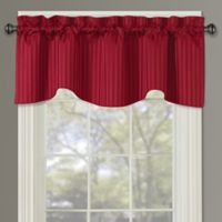 Sutton Rod Pocket Lined Window Valance in Red