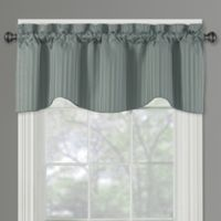 Sutton Rod Pocket Lined Window Valance in Blue