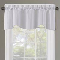 Sutton Rod Pocket Lined Window Valance in White