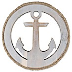 Thirstystone® Anchor Acacia Wood Round Trivet in Silver