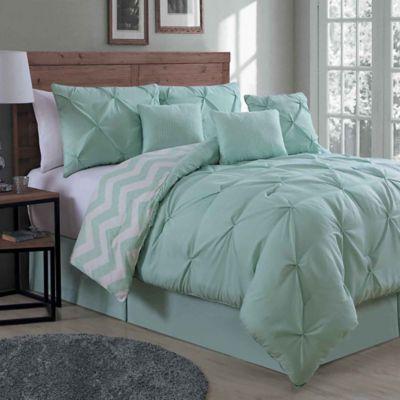 Avondale Manor Ella 7 Piece Queen Comforter Set In Mint