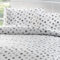 Brielle Circlets Queen Sheet Set in White