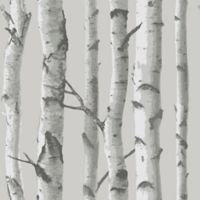 NuWallpaper™ Mountain Birch Peel and Stick Wallpaper in Grey