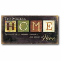 """Courtside Market """"Love Brings Us Home"""" Canvas Wall Art"""