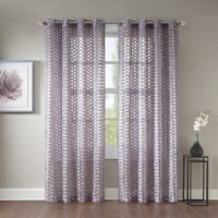 Erin 108 Inch Sheer Grommet Top Window Curtain Panel In Lavender
