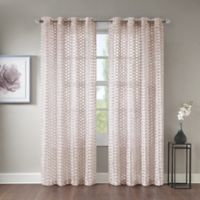 Erin 108-Inch Sheer Grommet Top Window Curtain Panel in Pink