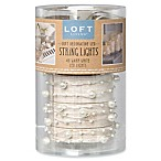 Loft Living 10-Foot 40-Light LED Micro Pearls String Lights in White