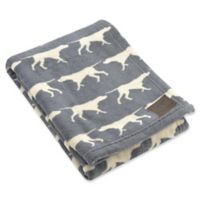 Tall Tails® Fleece Dog Print Pet Blanket in Charcoal