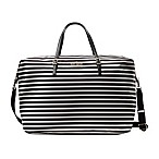 kate spade new york Lyla  Large Duffle in Black/Cream Stripe