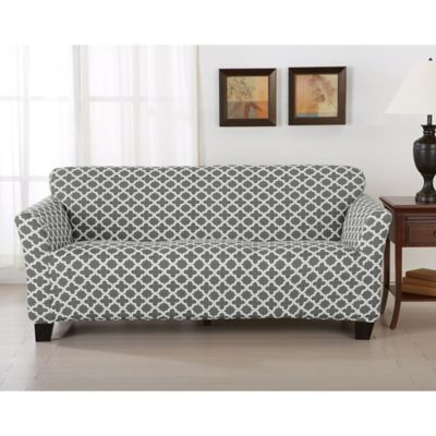 Merveilleux Great Bay Home Brenna Strapless Sofa Slipcover In Charcoal