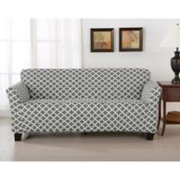 Great Bay Home Brenna Strapless Sofa Slipcover in Charcoal