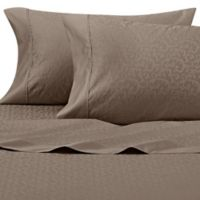 Wamsutta® 625-Thread Count PimaCott® Scroll King Pillowcases in Taupe (Set of 2)