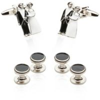 Bride and Groom Cufflinks and Studs
