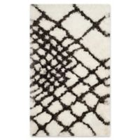 Safavieh Toronto 3-Foot x 5-Foot Shag Area Rug in Ivory/Dark Grey