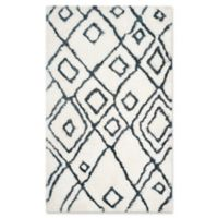 Safavieh Toronto 4-Foot x 6-Foot Shag Area Rug in Ivory/Blue