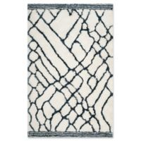 Safavieh Toronto 5-Foot x 8-Foot Shag Area Rug in Ivory/Blue