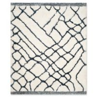 Safavieh Toronto 8-Foot x 10-Foot Shag Area Rug in Ivory/Blue