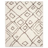 Safavieh Toronto 8-Foot x 10-Foot Shag Area Rug in Ivory/Light Grey