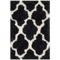 Safavieh Barcelona 2-Foot x 3-Foot Shag Accent Rug in Graphite/Ivory
