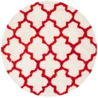 Safavieh Barcelona 5-Foot Round Shag Area Rug in Ivory/Rust