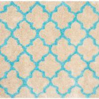 Safavieh Barcelona 5-Foot Square Shag Area Rug in Cream/Blue