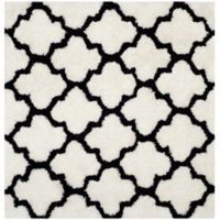 Safavieh Barcelona 5-Foot Square Shag Area Rug in Ivory/Black