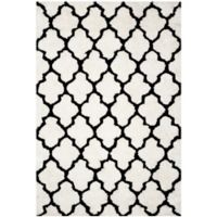 Safavieh Barcelona 6-Foot x 9-Foot Shag Area Rug in Ivory/Black