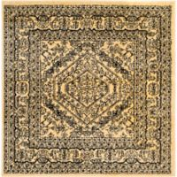 Safavieh Adirondack Traditional Floral 4-Foot Square Accent Rug in Gold