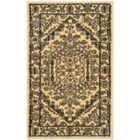 Safavieh Adirondack Traditional Floral 4-Foot x 6-Foot Accent Rug in Gold