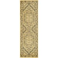 Safavieh Adirondack Traditional Floral 2-Foot 6-Inch x 12-Foot Runner Rug in Gold