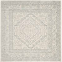 Safavieh Adirondack Traditional Floral 6-Foot Square Area Rug in Ivory