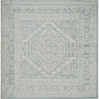 Safavieh Adirondack Traditional Floral 6-Foot Square Area Rug in Slate