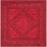 Safavieh Adirondack Traditional Floral 6-Foot Square Area Rug in Red