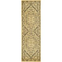 Safavieh Adirondack Traditional Floral 2-Foot 6-Inch x 18-Foot Runner Rug in Gold