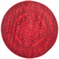 Safavieh Adirondack Traditional Floral 8-Foot Round Area Rug in Red