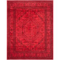Safavieh Adirondack Traditional Floral 8-Foot x 8-Foot 6-Inch Area Rug in Red