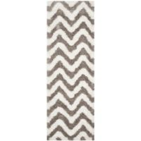Safavieh Barcelona 2-Foot 3-Inch x 8-Foot Shag Rug in Ivory/Silver