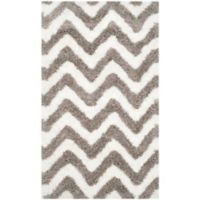 Safavieh Barcelona 4-Foot x 6-Foot Shag Rug in Ivory/Silver