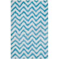 Safavieh Barcelona 4-Foot x 6-Foot Shag Rug in Ivory/Blue