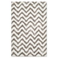 Safavieh Barcelona 5-Foot x 8-Foot Shag Rug in Ivory/Silver