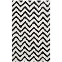 Safavieh Barcelona 6-Foot x 9-Foot Shag Rug in Ivory/Black